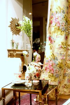 On Kings Road in London resides the Designers Guild Store. It takes up most of a city block, and its where I travel to to purchase my fabric. Tricia Guild' s fabric is what I use in most of my design work.