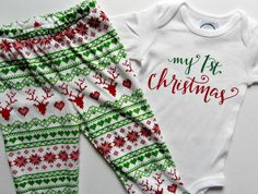 Hey, I found this really awesome Etsy listing at https://www.etsy.com/listing/286039589/first-christmas-baby-outfit-my-first
