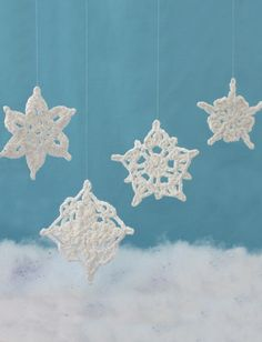Assorted Snowflakes ~ free pattern ᛡ