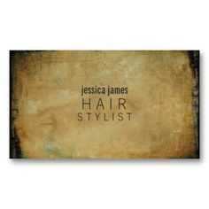 Distressed Grunge Hair Stylist Appointment Cards Business Card