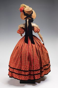 1832 Doll by Marcelle Dormoy (metal, plaster, hair, silk, straw, cotton, feathers, linen), 1949. MMA