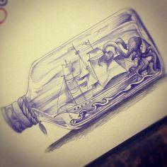 ship in a bottle | Tumblr