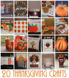 Keeping it Simple: 20 Thanksgiving Crafts
