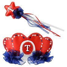 Bleacher Creatures Tiara and Wand Set - Texas Rangers