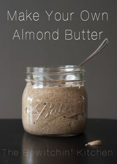 How to make almond butter. This homemade almond butter recipe is so easy, all you need is a high powered blender (Vitamix, Ninja, Blendtec, etc). DIY almond butter is gluten free, chemical free, and half the cost! | The Bewitchin' Kitchen