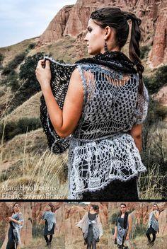 Multi Use Free Form Shawl/ Cape/ Scarf/ Vest/ Poncho by MariaHera, Scarf Vest, Cape Scarf, Knitwear Fashion, Shawl, Trending Outfits, Free, Etsy, Vintage, Vintage Comics