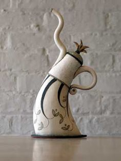 Dancing teapots • Hennie Meyer Looks like it should be in Alice in Wonderland!