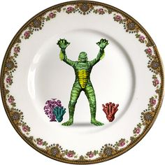 Creature from the black lagoon - Monsters - Vintage Porcelain Plate - #0463 by ArtefactoStore on Etsy