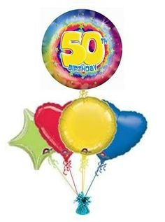 """Make some ones birthday even more special with this birthday balloon """"Party Streamers"""" Wonderful birthday balloons from the Balloon Kings. Helium filled birthday balloons in a box . 60th Birthday Balloons, Happy 30th Birthday, 80th Birthday, Send Balloons, Balloons Online, Balloon Painting, Party Streamers, Birthday Bouquet, Balloon Gift"""