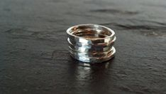 Love Love Love the look! Sterling Silver  Stack Rings  Hammered Set of by ArbotiqueDesigns, $20.00