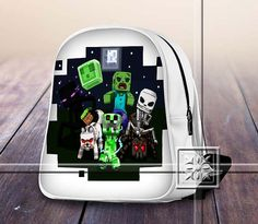 Scary Famous Figure Game Monster - Game Design For Kids School Bag Backpack