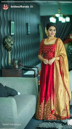 68 New Ideas For Dress Party Wedding Guest Style Kerala Engagement Dress, Engagement Dress For Bride, Engagement Gowns, Indian Reception Dress, Bride Reception Dresses, Wedding Party Dresses, Wedding Reception, Unique Outfits, Beautiful Outfits