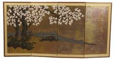 "4 Panel Asian Vintage Screen   Fabric/Wood  71""Lx36""H  $399   SOLD"