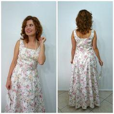 Floral Brocade Dress Jessica McClintock Vintage by KMalinkaVintage,