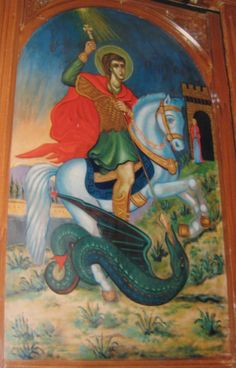 """The Patron Saint of Madaba, St. George """"The brave man well 