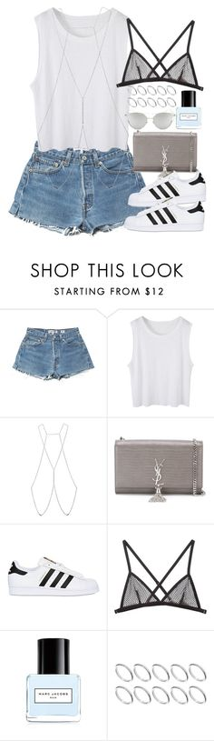 """""""Untitled #390"""" by mari-mmp ❤ liked on Polyvore featuring Bliss Lau, Yves Saint Laurent, adidas Originals, Fleur du Mal, Marc Jacobs, ASOS and Chicnova Fashion"""