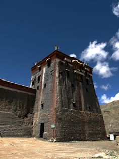 Massive walled monasteries like the Sakya complex, which was founded in 1073, have their roots in India and Central Asia. Such monasteries were important for the spread of Buddhism across the Tibetan plateau with their elaborate image halls and libraries.
