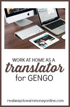 Gengo review - how to work at home as a translator for Gengo.