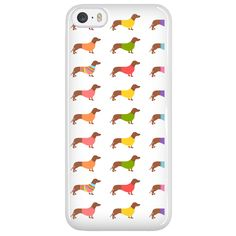 "Dachshund Phone Case ""Wearing Sweaters"""