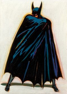 ramos-batman A Sinister Figure Lurks in the Shadows, the oil painting was created in 1962 by renowned California pop artist Mel Ramos sold at auction Thursday for $173,000
