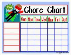 15 FREE Printable CHORE CHARTS!!!