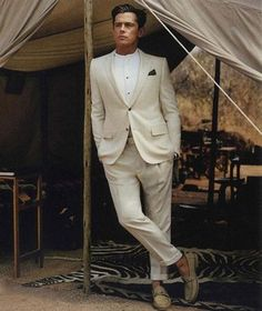 Ivory Louis Vuitton suit, is it even too goodlooking?