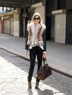 Fake fur vest