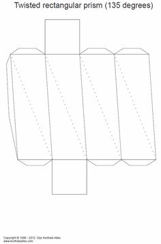 Net twisted rectangular prism