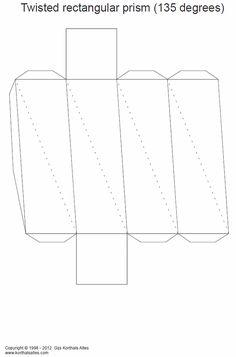 Net twisted rectangular prism