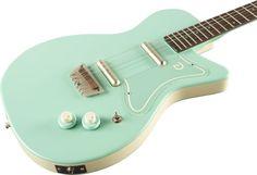 Cool Electric Guitars | Danelectro 56 Electric Guitar Aqua Green with Humbuckers