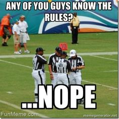 NFL replacement refs!!!