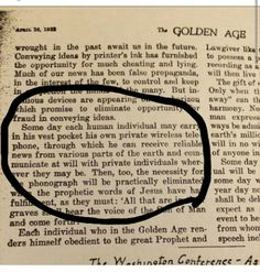 How cool is this?! From the Golden Age (now The Watchtower) from April 1922