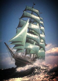 Ship and Sea Moby Dick, Bateau Pirate, Old Sailing Ships, Full Sail, Sea Photo, Wooden Ship, Canoe Trip, Tug Boats, Sail Away