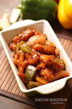 Baby corn Manchurian - a very common vegetarian starter found in almost all the restaurants - tasty and easy to make starters at home. Vegetarian Starter Recipes, Vegetarian Starters, Baby Corn Fry, Baby Corn Recipes, Manchurian Recipe, Food Advertising, Roasted Garlic, Sauce Recipes, Cooking Time