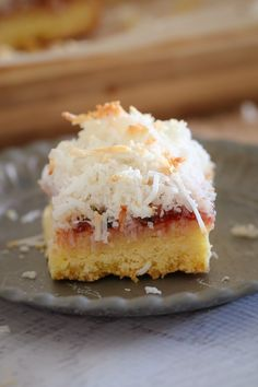 A delicious twist on a classic favourite... this 4 layered Coconut, Passionfruit & Raspberry Jam Slice is even better than the original!