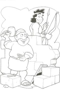 Kids coloring page from what 39 s in the bible featuring for Haggai coloring page