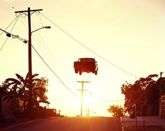 Matthew Porter takes the jumping muscle car cliché to absurd heights.