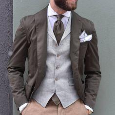scabalheritage: #Boglioli #jacket #Morrisheritage #vest #Incotex #slacks #houseofamandachristensen #tie #handmade