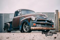 1954 Chevy 3100 - The Ultimate Rat Rod (Build – Farm Fresh Garage Ltd - Classic American Truck Parts Shop, Workshop & Rat Rods Chevrolet Apache, Chevy 3100, Chevy Chevrolet, Gmc Pickup Trucks, Gm Trucks, Rat Rod Build, 1954 Chevy Truck, Panel Truck, Classic Chevrolet