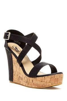Carrini Crisscross Wedge Sandal from HauteLook on shop.CatalogSpree.com, your personal digital mall.
