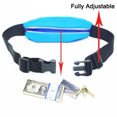 """Waist Pack, Smarco Adjustable and Touchscreen Running Belt for iPhone6, iPod, Keys, Cash and Credit Cards - Ideal for Jogging, Gym, Running, Workout, Hiking or Other Sports-(Two Size 4.7""""and 5.5"""") Running Belt, Bank Card, Waist Pack, Jogging, Ipod, Iphone 6, Gym, Workout, Credit Cards"""