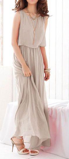 Grey Pleated Chiffon Maxi Dress is stylin' Chiffon Maxi Dress, Dress Skirt, Maxi Dresses, Bridesmaid Dresses, Pleated Maxi, Maxi Skirts, Bohemian Bridesmaid, Church Dresses, Draped Dress