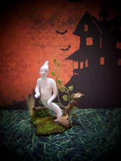 Dollhouse Miniature Halloween Haunted House by 19thDayMiniatures  https://www.etsy.com/listing/83620058/dollhouse-miniature-halloween-haunted