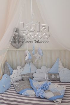 Crib side, pillow letters, LulaBooo - Ideas For Diy