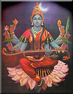 Dasha (ten) Mahavidya Part Four Dhumavati, Bagalamukhi, Matangi and Kamala… Saraswati Goddess, Kali Goddess, Indian Goddess, Goddess Art, Mother Kali, Divine Mother, Lord Shiva Family, Tanjore Painting, God Pictures