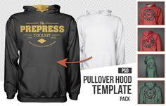 Blank mens pullover hoodie mockup template psd