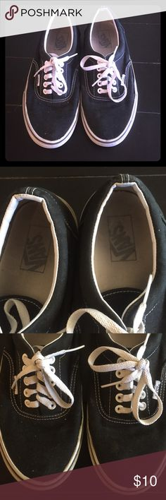 Used black Vans Used condition black vans.  Women's size 9, men's size 7.5. Vans Shoes Sneakers