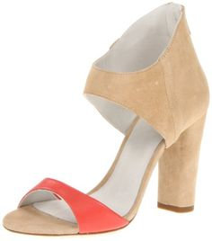 Plomo Womens Claudia Sandal,Beige/Coral,39 EU/9 M US.  check discount today! click picture on top