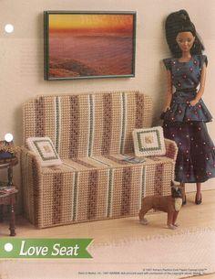 Love Seat Fashion Doll Furniture Plastic by needlecraftsupershop, $2.95