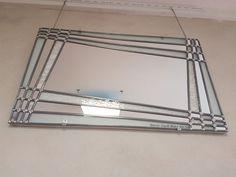 Galerie : Vitraux d'Art Vanessa Dazelle Verre Design, Glass Design, Art Deco Mirror, Wall Mirror, Stained Glass Mirror, Mirrors, Applique, Inspire, Glass